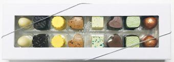 16 stk. Blandet Innovativ konfekt 160g fra Aalborg Chokoladen