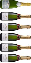 Bobler Smagekasse - 1 Blanc de Blanc Champagne og 5 Cremant de Bourgogne