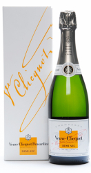 Veuve Clicquot Champagne Demi-Sec, White Label i gaveæske