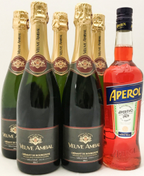 Pakketilbud: 5 x Veuve Millésime & 1 x Aperol Spritz